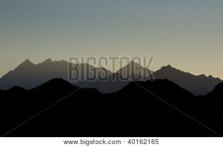 Mountains siluet
