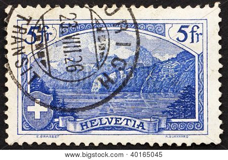 Postage Stamp Switzerland 1914 The Rutli Mountain