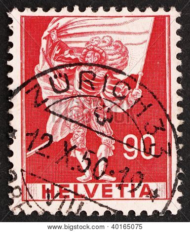 Postage Stamp Switzerland 1959 Standard Bearer