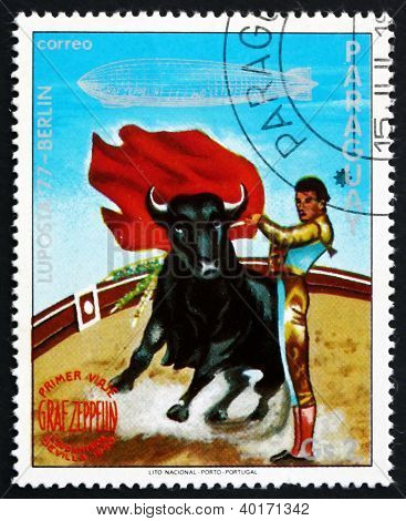 Postage stamp Paraguay 1977 Bull Fighter, Seville