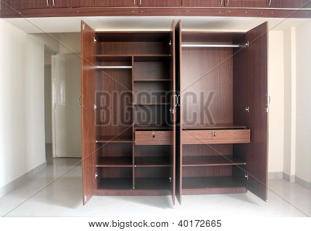 Stylish & Modern Empty Cupboard In A Room Of A Newly Built House(apartment)