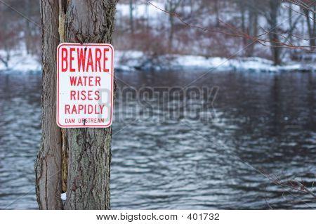 Dam Warning Sign