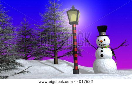 Snowman On Christmas
