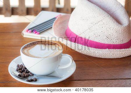 Agradável e tempo de paz para o café