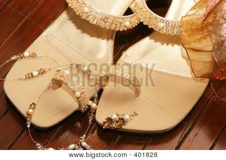 Ladies Beaded Strap Shoe