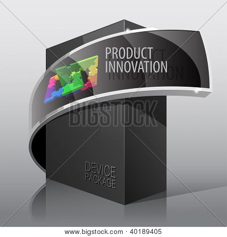 Dark Package Cardboard Box. For presentation