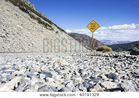 Rock Slide Area Sign