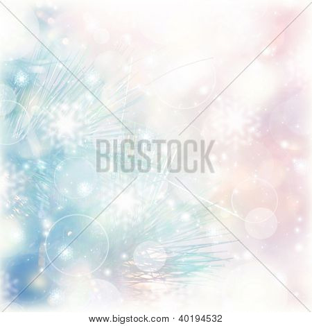 Picture of abstract blur background, pink and blue blurred backdrop, wedding day, greeting postcard, romantic glowing Christmastime decorations, Christmas ornament, beautiful wallpaper