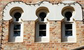 stock photo of flesh air  - old court house window - JPG
