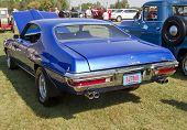 Blue 1970 Pontiac Lemans Sport Engine Rear View