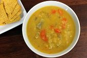 Постер, плакат: Вегетарианская желтый гороховый суп