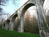 pic of poitiers  - Old Roman Aqueduct near Poitiers in France - JPG