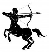 stock photo of centaur  - An illustration of a stylised centaur archer perhaps a centaur archer tattoo - JPG