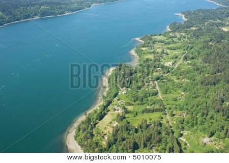 Over Seattle Island