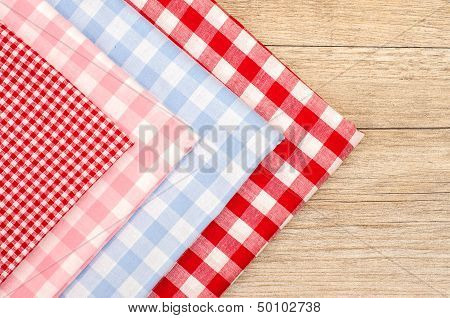 Stack Of Checkered Cloths