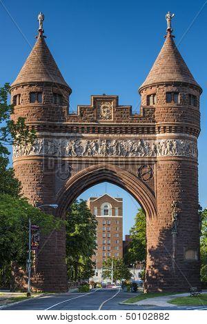 Gate in Bushnell Park in Hartford, Connecticut
