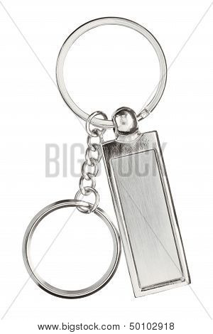 Hanging Silver Key Chain