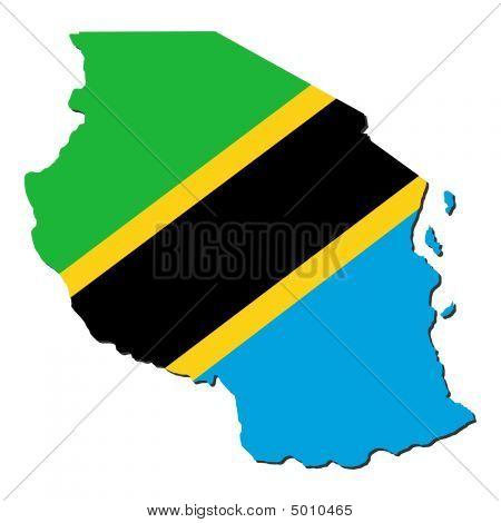 Tanzania Map Flag