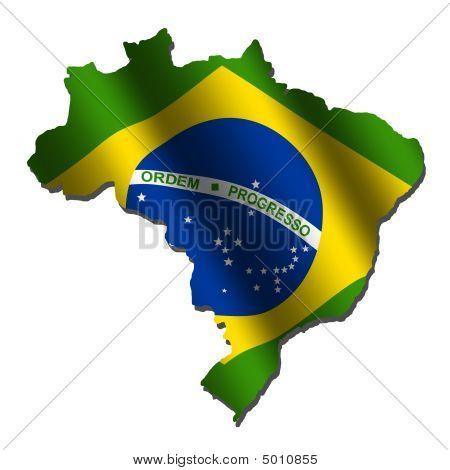 Brazil Map Flag