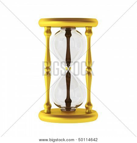 3D Render Of Golden Sandwatch