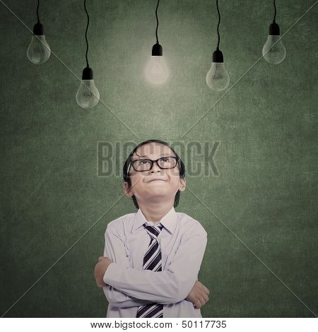Close-up Young Businessman Under Lamps