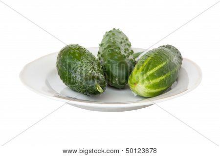Cucumbers On A Dish