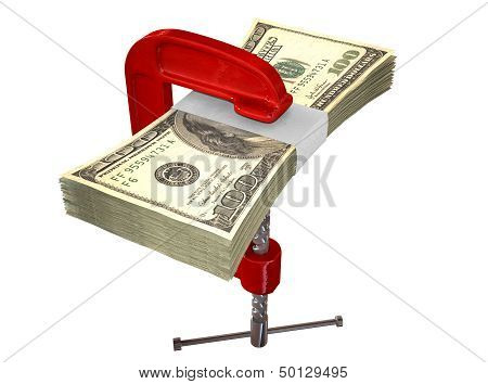 Clamped American Dollar Notes