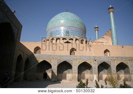 Beautiful Jame Abbasi Mosque, Isfahan, Iran