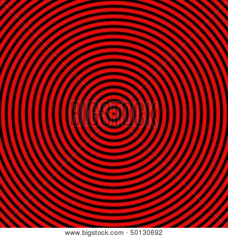 hypnotize Red And Black Circle Graphic