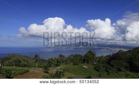 Bay of Fort de France, Martinique island