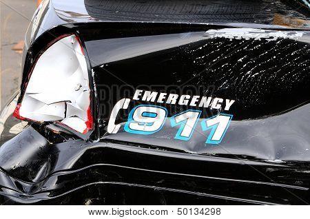Damaged Police Car