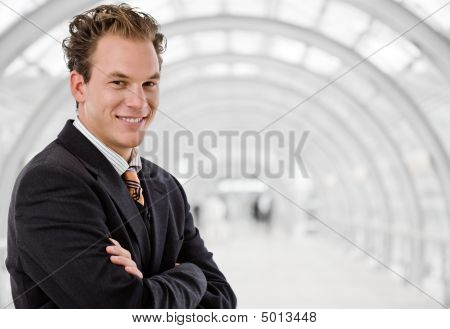 Happy Businessman Smiling