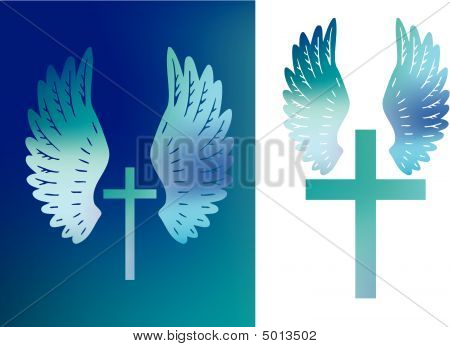 Cross And Wings Set