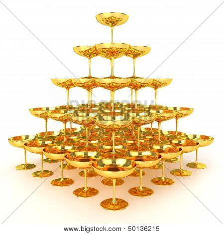 Pyramid of Golden Glasses