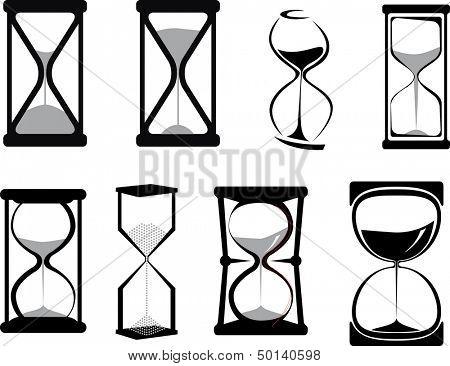 Set of hour glasses