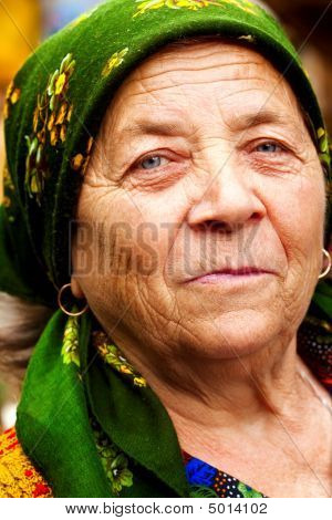 Smile Of Happy East European Senior Woman