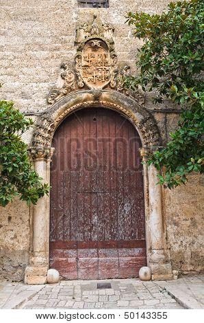 Historical palace. San Vito dei Normanni. Puglia. Italy.