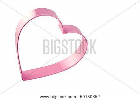 Pink Heart Cookie Cutter