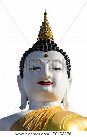 Isolated - Big Buddha Image At Golden Triangle
