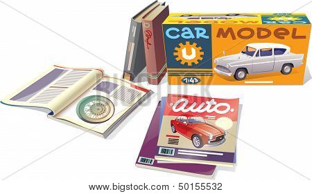 Magazines, Books And The Car Model