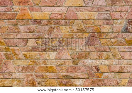Pattern Color Of Modern Style Design Decorative Red Slate Stone Wall Surface