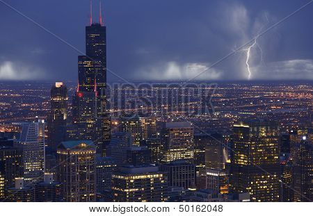 Skyline Chicago Storm