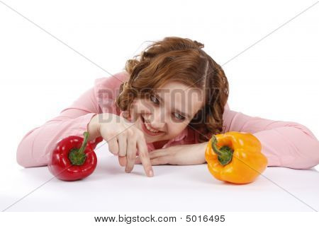 Woman With Sweet Peppers.