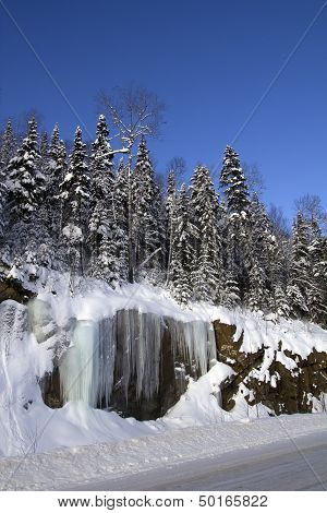 winter cliff
