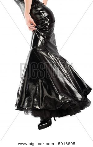 Black Lacquer Skirt