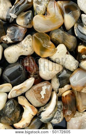 Mixed Beach Stone Background