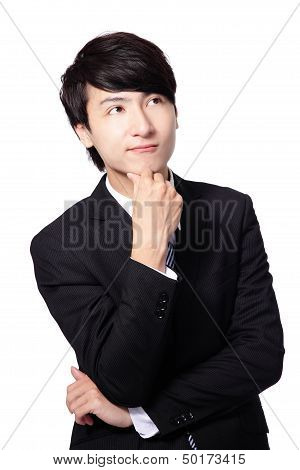 Handsome Young Business Man Think