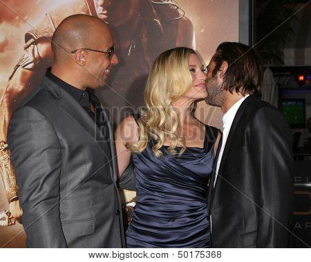 LOS ANGELES - AUG 28:  Vin Diesel, Katee Sackhoff, Jordi Molla at the