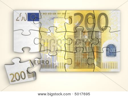 200 Euro Note Puzzle  Top View