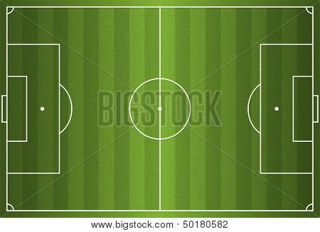 Realistic Vector Football - Soccer Field